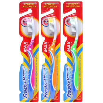 Зубная щетка средней жесткости Meggi Fresh&White Max Effect