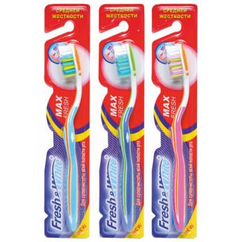 Зубная щетка средней жесткости Meggi Fresh&White Max Fresh