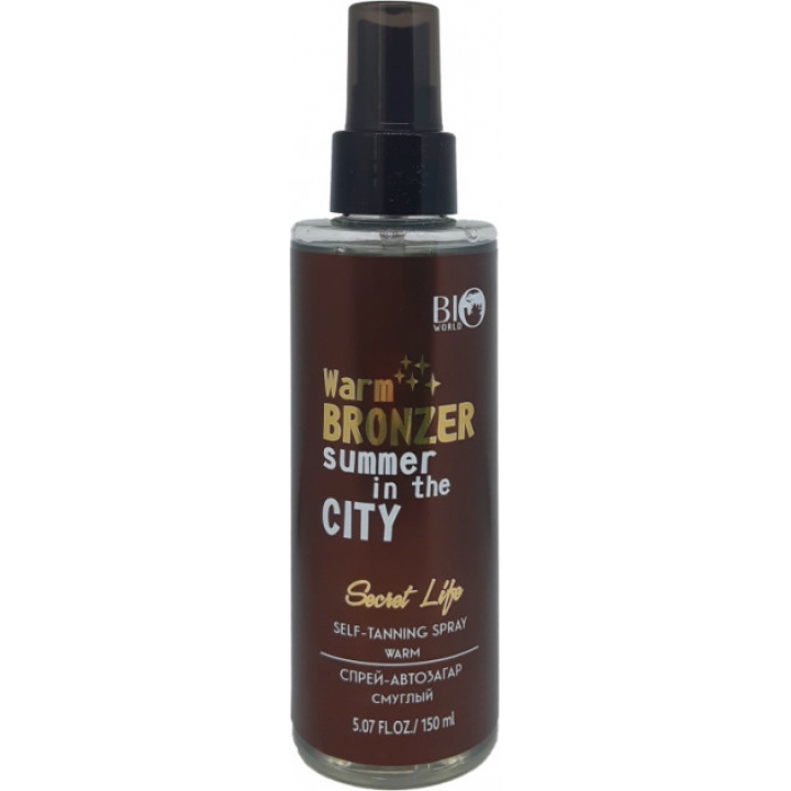 Спрей-автозагар, смуглый Bio World Secret Life Self-Tanning Spray Warm