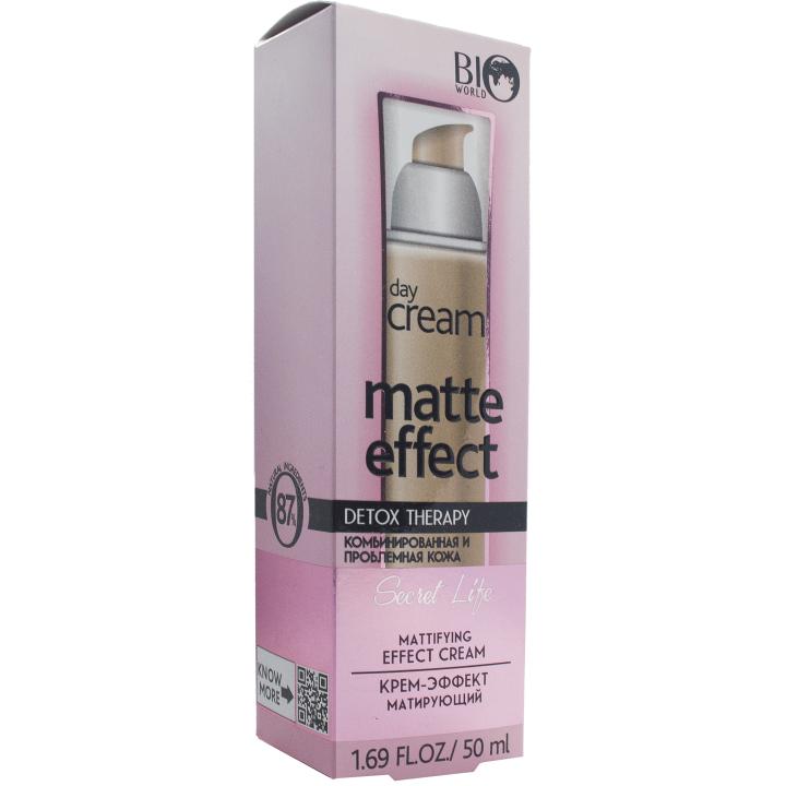Крем-эффект матирующий Bio World Secret Life Detox Therapy Matte Effect Day Cream