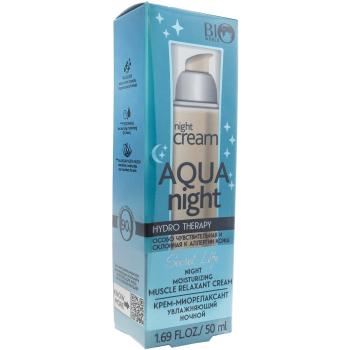 Крем-миорелаксант увлажняющий ночной Bio World Secret Life Hydro Therapy Moisturizing Muscle Relaxant Cream
