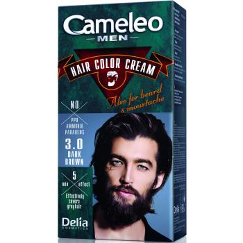 Краска для волос, бороды, усов мужская Delia Cameleo Men Hair Color Cream Dark Brown