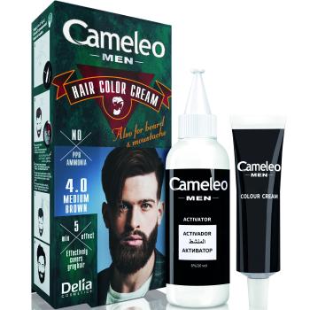 Краска для волос, бороды, усов мужская Delia Cameleo Men Hair Color Cream Medium Brown