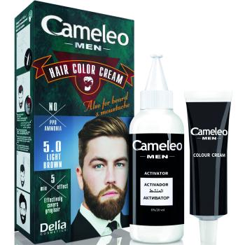 Краска для волос, бороды, усов мужская Delia Cameleo Men Hair Color Cream Medium Light Brown