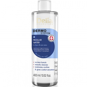Мицеллярная вода для лица и глаз для всех типов кожи Delia Micellar Water 400 мл