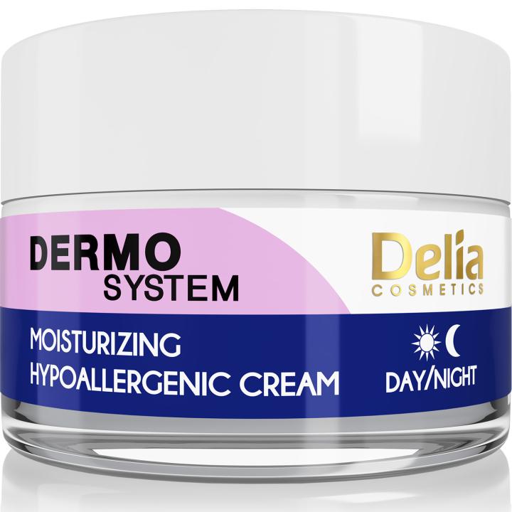 Крем для лица, увлажняющий, гипоаллергенный Delia Dermo System Moisturizing Hypoallergenic Cream 50 мл