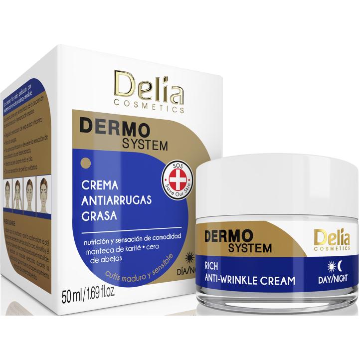 Крем для лица, антивозрастной, питательный Delia Dermo System Rich Anti-Wrinkle Cream 50 мл