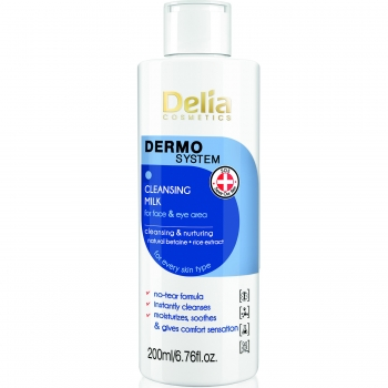 Молочко для демакияжа лица и глаз Delia Dermo System Milk Make-up Remover 200 мл