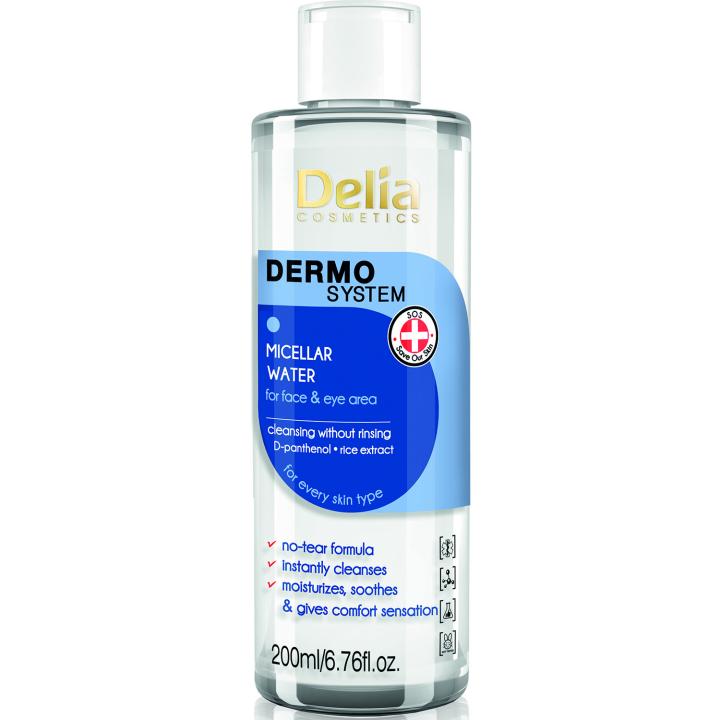 Мицеллярная вода для лица и тела для всех типов кожи Delia Micellar Water 200 мл