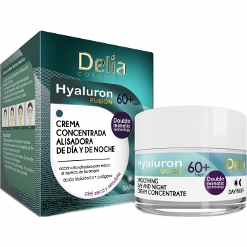 Крем концентрат заполняющий морщины 60+ Delia Hyaluron Fusion Anti-Wrinkle-Filling Day and Night Cream Concentrate 50 мл