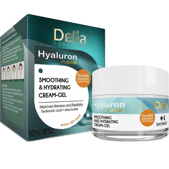 Разглаживающий крем-гель для лица Delia Hyaluron Fusion Smoothing & Hydration Cream-Gel 50 мл