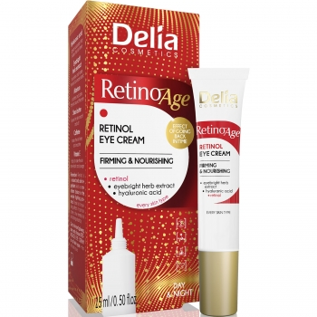 Крем для кожи вокруг глаз Delia Retinoage Day Night 15 мл