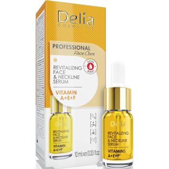 Сыворотка против морщин для лица, шеи Delia Face Care Anti-Wrinkle and Revitalizing Face Neckline Intensive Serum 10 мл