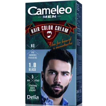 Краска для волос, бороды, усов мужская Delia Cameleo Men Hair Color Cream Black