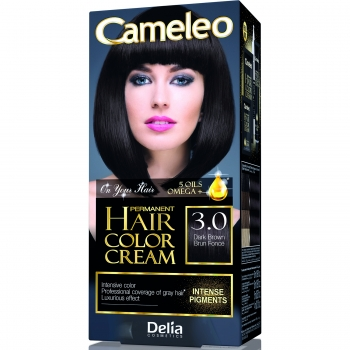 Краска для волос Delia Cameleo OMEGA plus 5 масел Dark Brown 50 мл