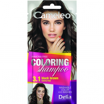 Оттеночный шампунь Delia Cameleo Colouning Shampoo Black Brown