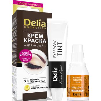 Крем-краска для бровей Delia Eyebrow Expert с маслом аргана Dark Brown 15 мл