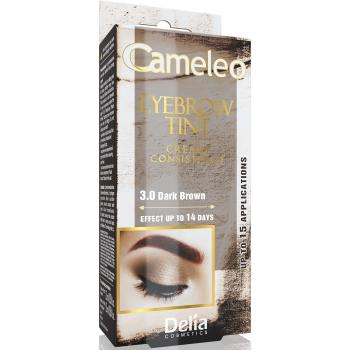 Крем-краска для бровей Delia Eyebrow Expert Cameleo Dark Brown 15 мл