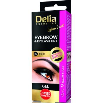 Гель-краска для бровей и ресниц Delia Cosmetics хна Black 15 мл