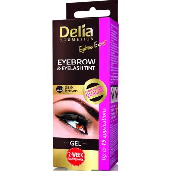 Гель-краска для бровей и ресниц Delia Cosmetics хна Dark Brown 15 мл