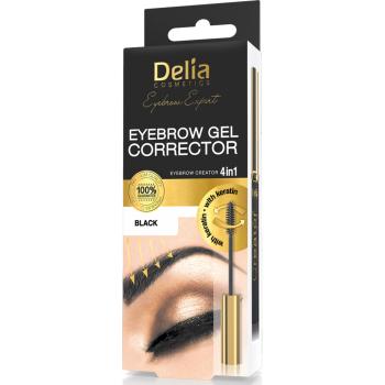 Гель-корректор для бровей Delia Cosmetics Black 7 мл