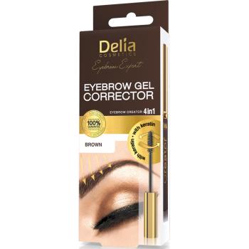 Гель-корректор для бровей Delia Cosmetics Brown 7 мл