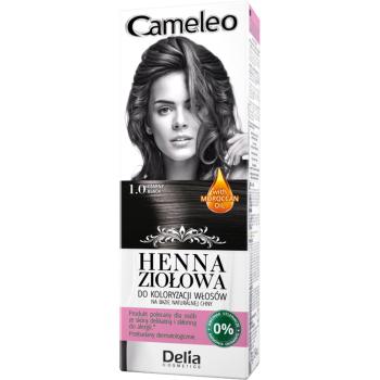 Краска для волос травяная с хной Delia Cameleo Black 75 мл