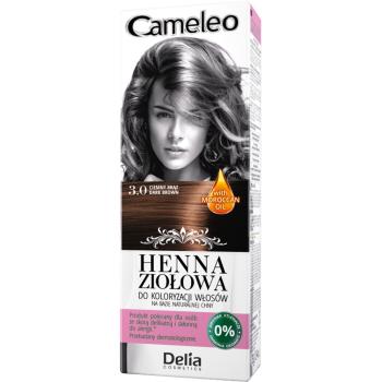 Краска для волос травяная с хной Delia Cameleo Dark Brown 75 мл