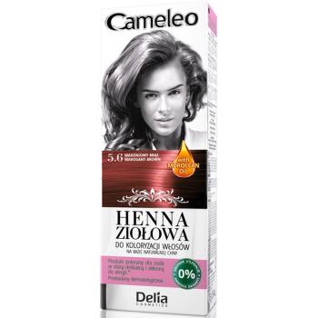 Краска для волос травяная с хной Delia Cameleo Mahogany Brown 75 мл