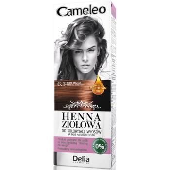 Краска для волос травяная с хной Delia Cameleo Golden Chestnut 75 мл