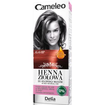 Краска для волос травяная с хной Delia Cameleo Rubin 75 мл