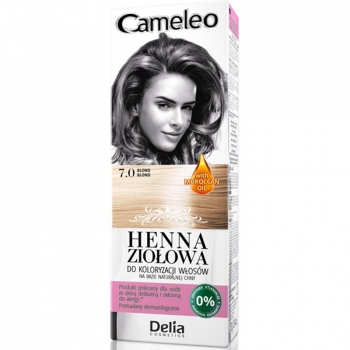 Краска для волос травяная с хной Delia Cameleo Blond 75 мл