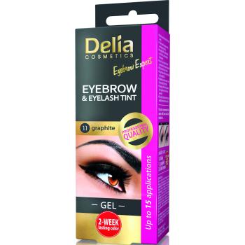 Гель-краска для бровей и ресниц Delia Cosmetics хна Graphite 15 мл