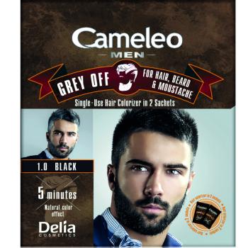Краска для волос, бороды, усов Delia Cameleo Men Grey Off Black