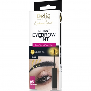 Экспресс краска для бровей Delia Cosmetics хна Black 6 мл