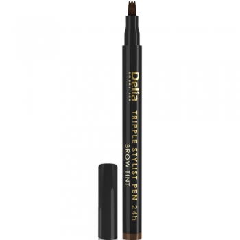Перьевой маркер для бровей Delia Tripple Stylist Pen 24h 1.0 Black