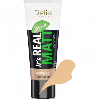 Тональный крем Delia Real Matt Warm 103