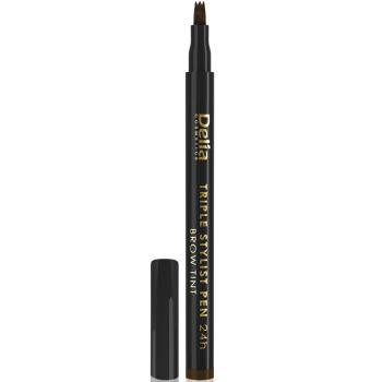 Перьевой маркер для бровей Delia Tripple Stylist Pen 24h 4.0 Brown