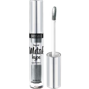 Жидкие тени для век Luxvisage Metal Hype 17 Серебряный шторм