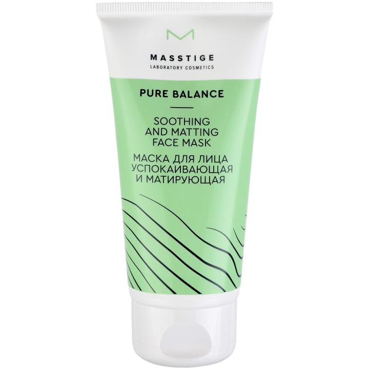 Маска для лица успокаивающая и матирующая Masstige Pure Balance Soothing and matting face mask