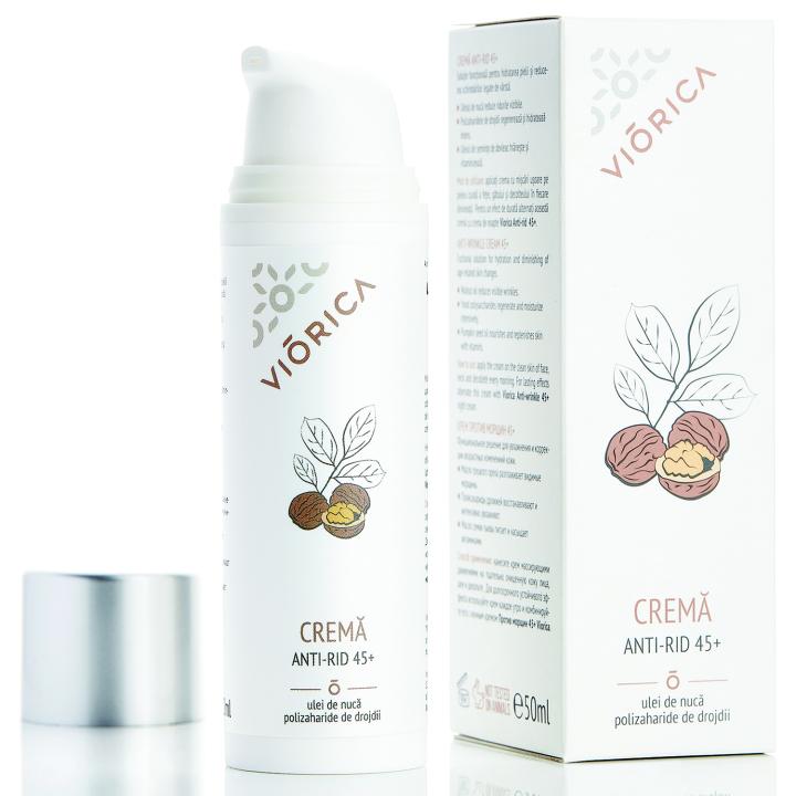 Крем против морщин 45+ Viorica Anti-Wrinkle Cream 45+