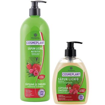 Мыло жидкое Питательное (экстракт из листьев клубники и малины) Viorica Cosmeplant 400 мл