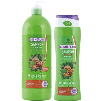 Шампунь-кондиционер Тонизирующий (экстракт листьев ореха) Viorica Cosmeplant 1000 мл