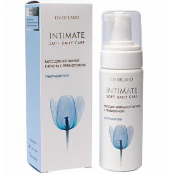 Мусс для интимной гигиены с пребиотиком Liv Delano Intimate Ультрамягкий