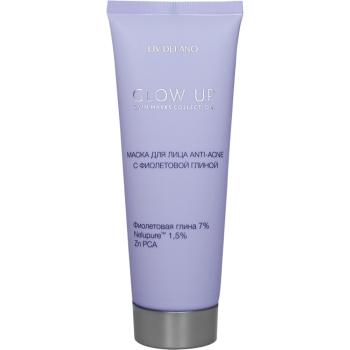 Маска для лица Anti-Aсne с фиолетовой глиной Liv Delano Glow Up