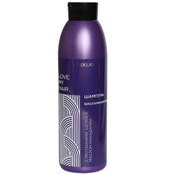 Шампунь для волос Биоламинирование с протеинами шёлка и маслом макадамии Liv Delano Love My Hair