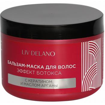 Бальзам-маска для волос эффект ботокса с кератином и маслом арганы Liv Delano Love My Hair
